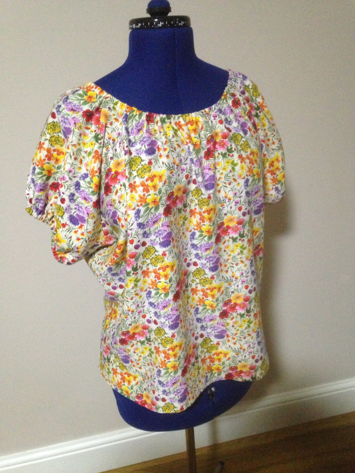 Finished – Upcycled Floral Print Raglan Sleeved Summer Top